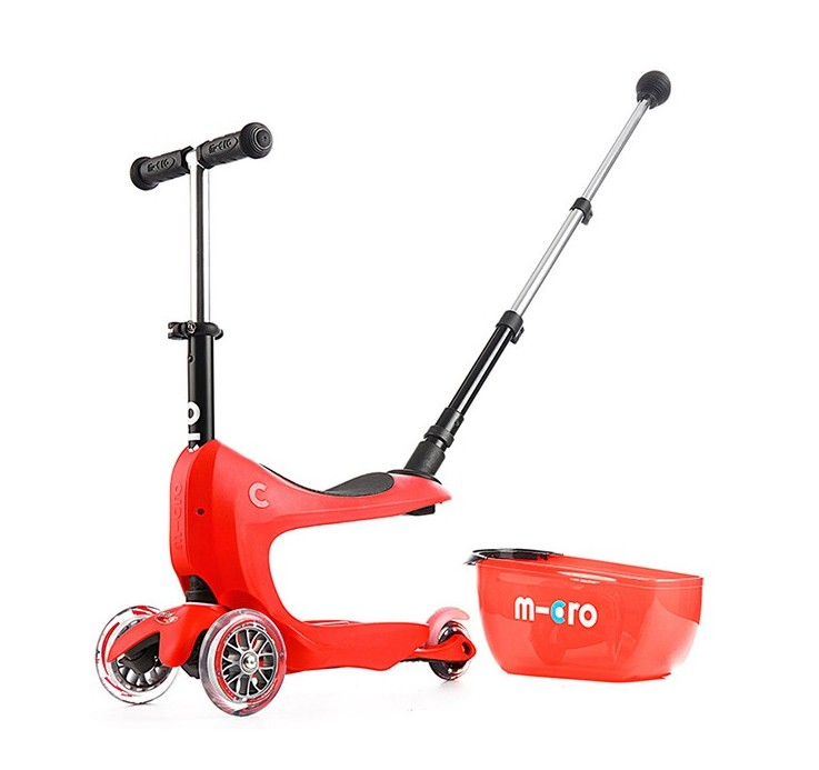 Micro Mini2go Deluxe plus - červená (red)