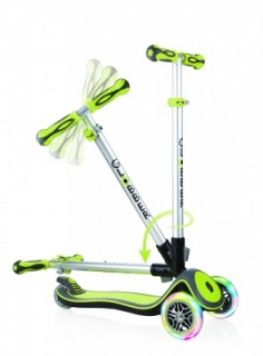 Globber Elite Lights Lime Green kolobežka